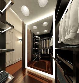 Vestidores y closets de estilo ecléctico por KOSHKA INTERIORS