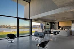 Salas de estilo moderno por Ruben Valdemarin Arquitecto