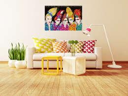 Plakat Girls: styl , w kategorii Ściany i podłogi zaprojektowany przez 4rooms.com.pl