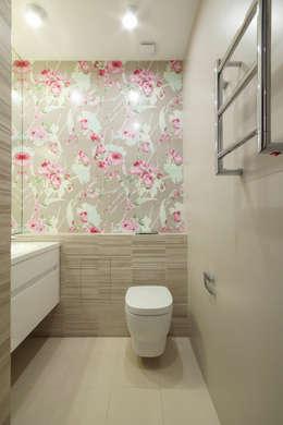 Квартира в ЖК Дубровская Слобода: Ванные комнаты в . Автор – ДизайновТочкаРу