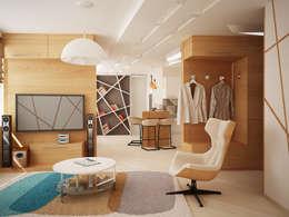 Projekty,  Salon zaprojektowane przez Vera Rybchenko