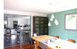 Extension d'une maison à Colombes, 200m² : Cuisine de style de style Moderne par ATELIER FB