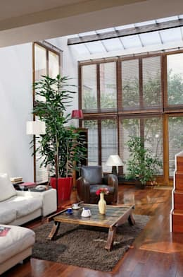 Réfection complète d'une maison à Colombes + extension, 170m² : Salon de style de style Moderne par ATELIER FB