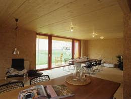 scandinavian Dining room by ArchitekturWerkstatt Vallentin GmbH