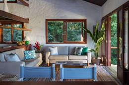Salas / recibidores de estilo rústico por Lucia Manzano