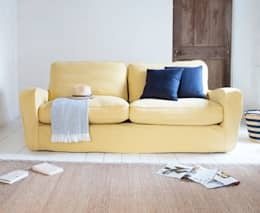 modern Living room تنفيذ homify