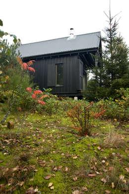 Widok z północnego zachodu, elewacja północno-zachodnia: styl skandynawskie, w kategorii Domy zaprojektowany przez Magdalena Zawada