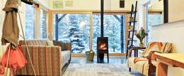 scandinavian Living room by Magdalena Zawada