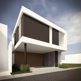 fachada principal opcin a casas de estilo minimalista por rtstudio