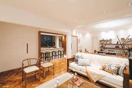 Apartamento Getúlio das Neves: Salas de estar modernas por Cerejeira Agência de Arquitetura