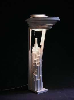 Bureaulamp  (XVI): moderne Studeerkamer/kantoor door atelier De Zondagse Kamer