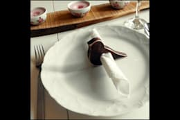 Pons Home Design – Ahşap Peçetelik: rustik tarz tarz Mutfak