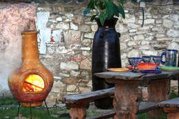 Barbecue brasero mexicain: Jardin de style de style eclectique par amadera
