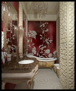 Санузел при женской спальне. Вид 1: Ванные комнаты в . Автор – Defacto studio