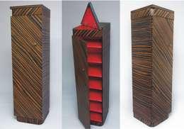 """Szafka na buty """"TOTEM"""" : styl , w kategorii Korytarz, hol i schody zaprojektowany przez Meble Autorskie Jurkowski"""