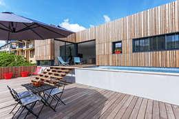 MAISON CARDAILLAC: Terrasse de style  par Hugues TOURNIER Architecte