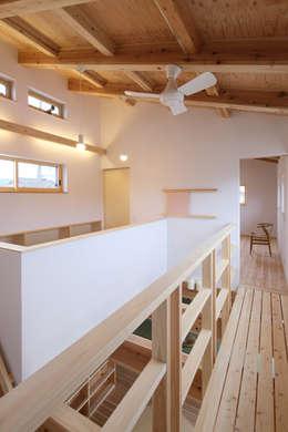 Estudios y biblioteca de estilo  por 芦田成人建築設計事務所