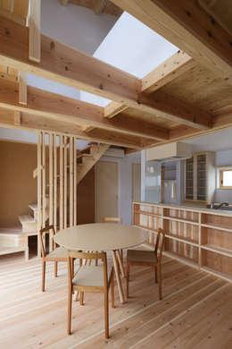 Comedores de estilo ecléctico por 芦田成人建築設計事務所