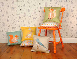Decorative Animal Cushions and Wallpaper:  Household by Helen Gordon