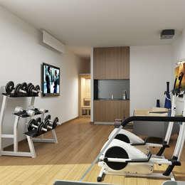 ARTHUR&MILLER – Novo Maison Bodrum: modern tarz Fitness Odası