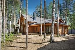 Honka, загородный дом для семьи из 6 человек: Деревянные дома в . Автор – Ольга Кулекина - New Interior