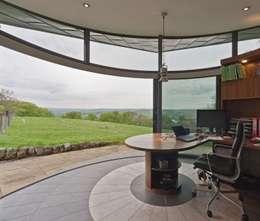 modern Study/office by Wildblood Macdonald