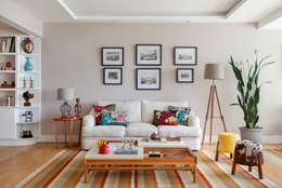 Sala de estar: Salas de estar ecléticas por Da.Hora Arquitetura