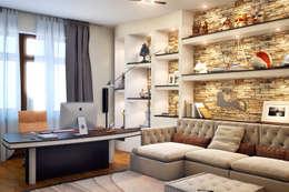 minimalistische Studeerkamer/kantoor door Sweet Home Design