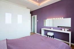 Realizacja projektu mieszkania 70 m2 w Krakowie: styl , w kategorii Sypialnia zaprojektowany przez Lidia Sarad