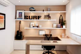 modern Study/office by Helô Marques Associados
