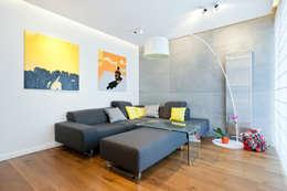 Realizacja projektu mieszkania 54 m2 w Krakowie: styl , w kategorii Salon zaprojektowany przez Lidia Sarad