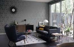 Livings de estilo moderno por 4 Duvar İthal Duvar Kağıtları & Parke