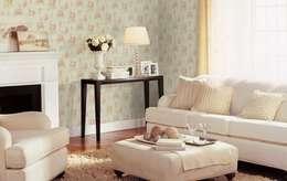 غرفة المعيشة تنفيذ 4 Duvar İthal Duvar Kağıtları & Parke