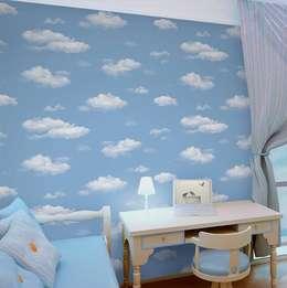 4 Duvar İthal Duvar Kağıtları & Parke – Uygulamalar: modern tarz Çocuk Odası