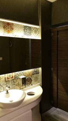 ÖZ-İŞ İNŞAAT İÇ MİMARLIK HAZIR MUTFAK – DENTAL REZİDANS ağız ve diş sağlığı POLİKLİNİĞİ: modern tarz Banyo