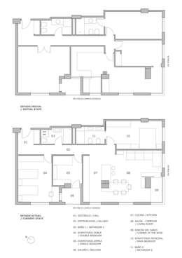 Planos estado inicial y estado actual:  de estilo  de LLIBERÓS SALVADOR Arquitectos