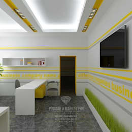 Студия дизайна интерьера Руслана и Марии Грин:  tarz Ofis Alanları