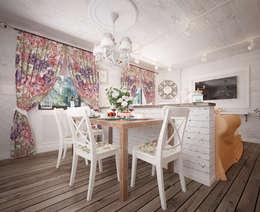 Уютный дом в стиле прованс: Кухни в . Автор – Дизайн-бюро Анны Шаркуновой 'East-West'