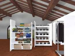 Progetto: Spogliatoio in stile  di Anna Leone Architetto Home Stager