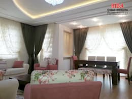 Hiba iç mimari ve dekorasyon – Ahmet Bilgin Evi: modern tarz Oturma Odası