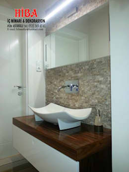 Hiba iç mimari ve dekorasyon – Ali Dablan Evi: modern tarz Banyo