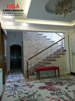 Hiba iç mimari ve dekorasyon – Ahmet Bilgin Evi:  tarz Koridor ve Hol