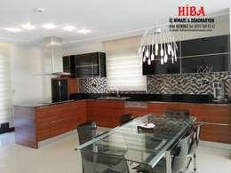 Hiba iç mimari ve dekorasyon – DR İlkay DR Musatafa Ödemiş Villası: modern tarz Mutfak