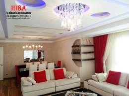 Hiba iç mimari ve dekorasyon – Semih Toplu Evi: modern tarz Oturma Odası