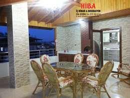 ระเบียง, นอกชาน by Hiba iç mimari ve dekorasyon