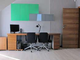 4: styl , w kategorii Domowe biuro i gabinet zaprojektowany przez Projekt Kolektyw Sp. z o.o.