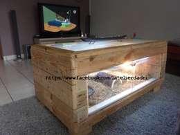 L'atelier d'Adri - terrarium - Bois de palettes: Salon de style de style eclectique par l'atelier d'adri