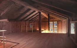 غرفة الميديا تنفيذ 家山真建築研究室 Makoto Ieyama Architect Office