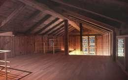 landhausstil Multimedia-Raum von 家山真建築研究室 Makoto Ieyama Architect Office