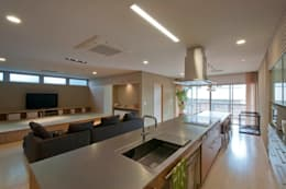 家山真建築研究室 Makoto Ieyama Architect Office: modern tarz Mutfak